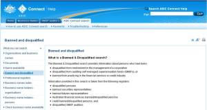 ASIC Banned & Disqualified Register