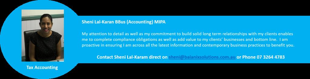 Sheni Tax Accountant Balanix Solutions