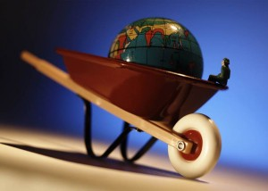 World in Wheelbarrow