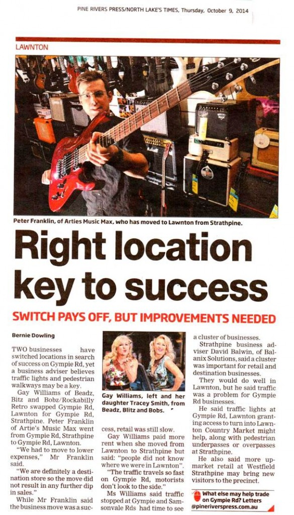 Pine Rivers Press Right Location Key to Success Article